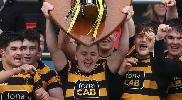 mike lifting the schools cup